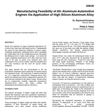 Manufacturing Feasability OF All Aluminum Engines